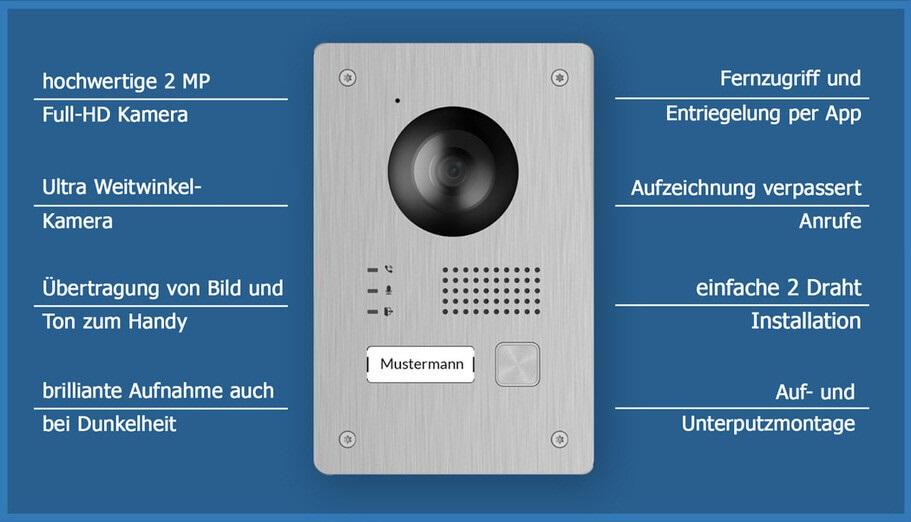 Sichere Video Türsprechanlage - Eigenschaften der sicheren Türstation