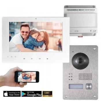 IP Video Türsprechanalgen Set mit HD Kamera bis zu 6 Monitoren und 12 Kameras