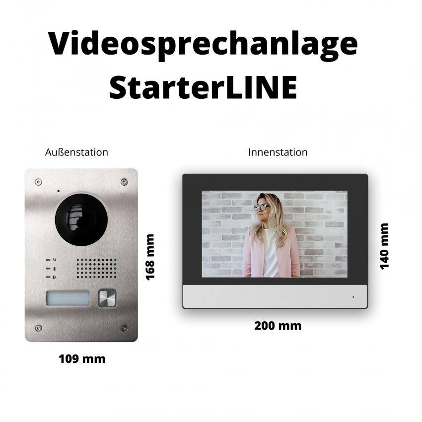 Video Türsprechanlage Display und Türstation einbauen