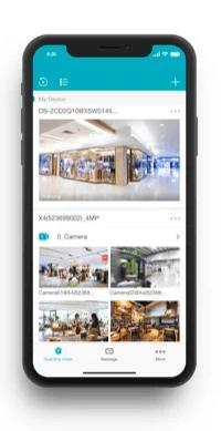 live Bild der Türstation mit Smartphone App